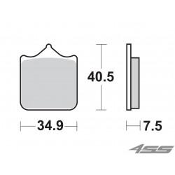 Predné platničky SBS 762HS Sinter (Cesta)