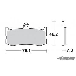 Predné platničky SBS 864DC Dual Carbon (Okruh)