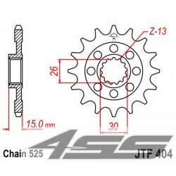 Predné kolečko JTF404