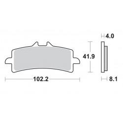 Predné platničky SBS 901DS Dual Sinter (Okruh)