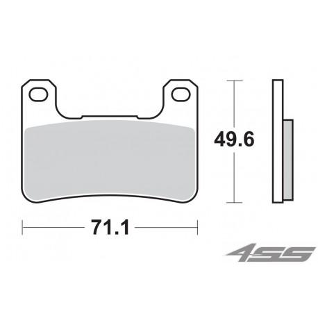 Predné platničky SBS 806HS Sinter (Cesta)