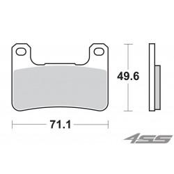 Predné platničky SBS 806DC Dual Carbon (Okruh)
