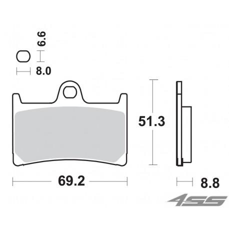 Predné platničky SBS 634HS Sinter (Cesta)