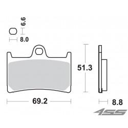 Predné platničky SBS 634DC Dual Carbon (Okruh)