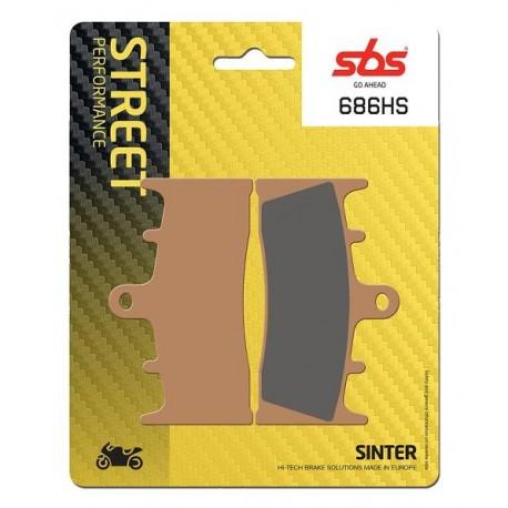 Predné platničky SBS 686HS Sinter (Cesta)