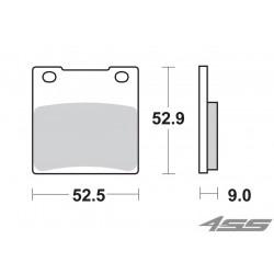 Zadné platničky SBS 556LS Sinter
