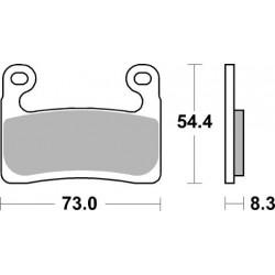 Predné platničky SBS 960DC Dual Carbon (Okruh)