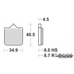 Predné platničky SBS 870DC Dual Carbon (Okruh)
