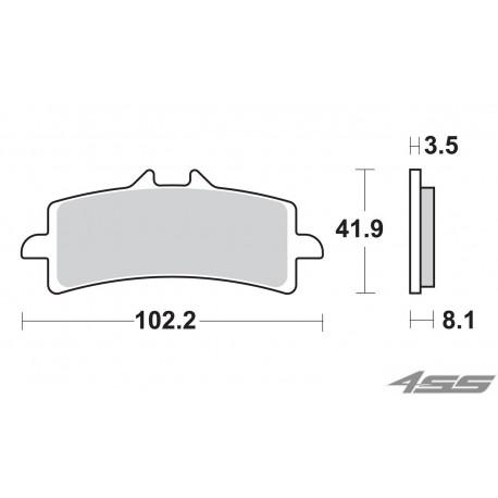 Predné platničky SBS 841DC Dual Carbon (Okruh)