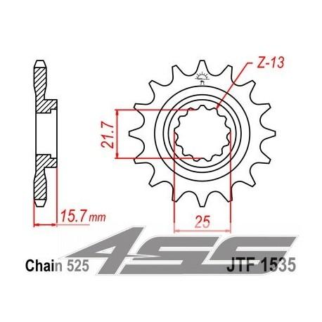 Predné kolečko JTF1535