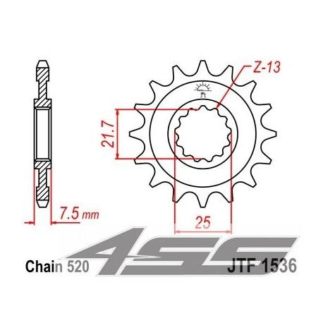 Predné kolečko JTF1536