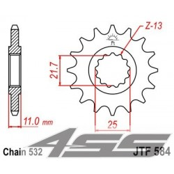 Predné kolečko JTF584