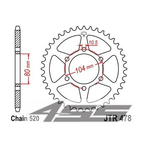 Reťazová rozeta JTR478