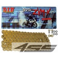 DID reťaz 525ZVMX zlatá