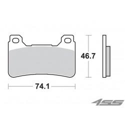 Predné platničky SBS 809DC Dual Carbon (Okruh)