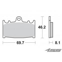 Predné platničky SBS 631HS Sinter (Cesta)