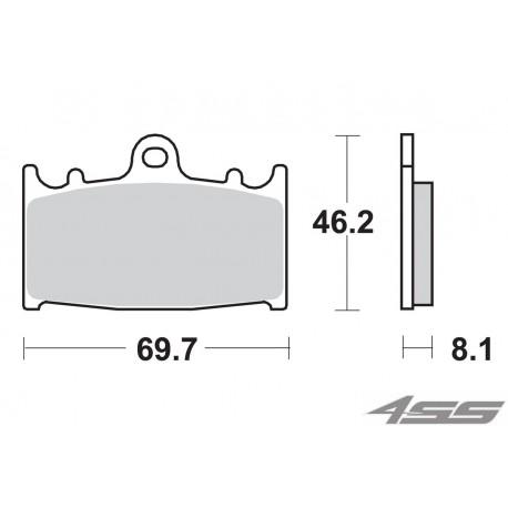 Predné platničky SBS 631DC Dual Carbon (Okruh)