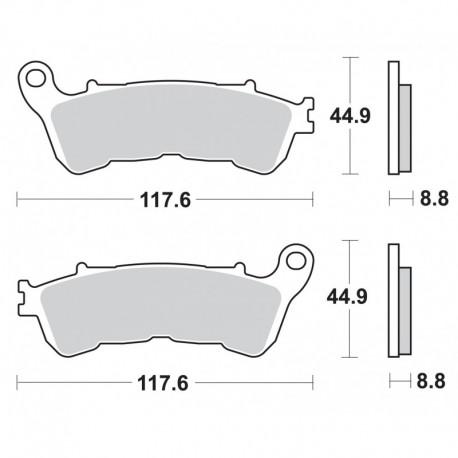 Predné platničky pre modely s ABS SBS 828HS Sinter (Cesta)