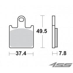 Predné platničky SBS 838RS Sinter (Cesta/Okruh) - momentálne nedostupné