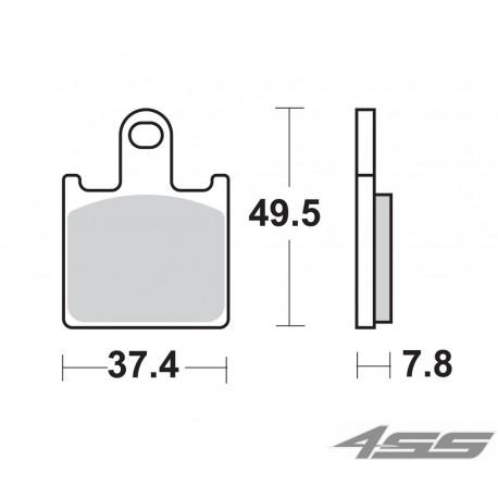 Predné platničky SBS 838DC Dual Carbon (Okruh) - momentálne nedostupné