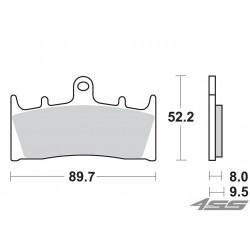 Predné platničky SBS 686DC Dual Carbon (Okruh)
