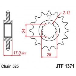 Predné kolečko JTF1371