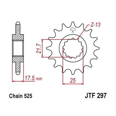 Predné kolečko JTF297