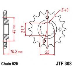 Predné kolečko JTF308