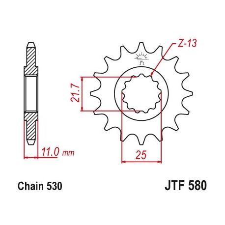 Predné kolečko JTF580