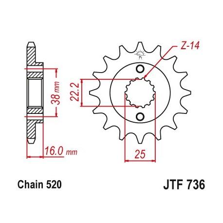 Predné kolečko JTF736