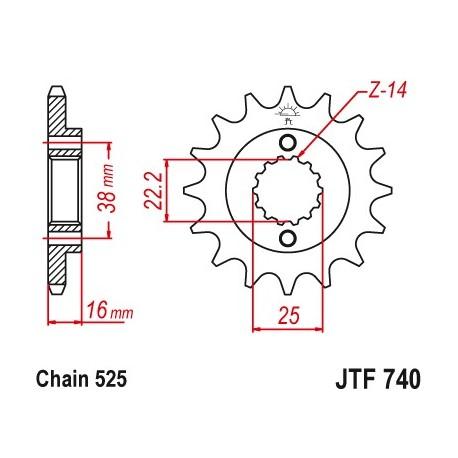 Predné kolečko JTF740