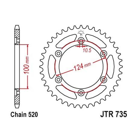 Reťazová rozeta JTR735