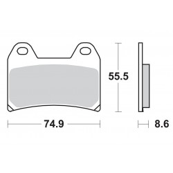 Predné platničky SBS 706RS Sinter (Cesta/Okruh)