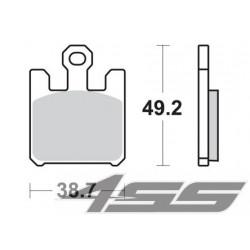 Predné platničky SBS 788RS Sinter (Cesta/Okruh)